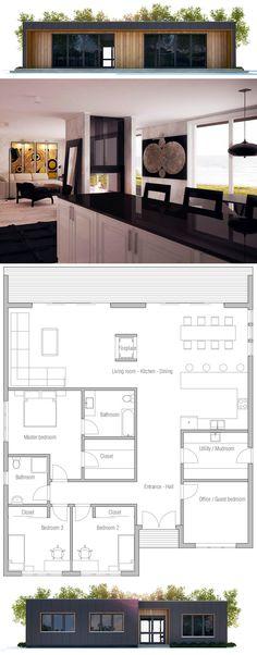 Modern Minimalist Home Plan, Affordable home plan, modern house design