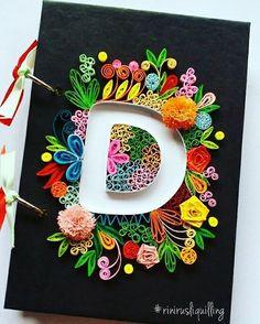 Paper Quilling Notebook #rinirusliquilling #notebook #handmade #kadounik #madebyrequest