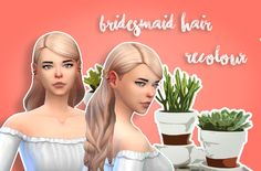"""sevensims: """"To commemorate seventeen's new mv, here's a recolour of Simduction's bridesmaid hair in 78 colours + black and white. :)) Mesh is required. Mediafire // Mega Happy simming ~ """""""