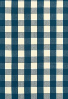 63039 Camden Cotton Check Indigo by F Schumacher Fabric