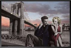 Framed Chris Consani  Brooklyn Bridge 36x24 Wood Framed Poster Art Print Marilyn Monroe James Dean ** You can find more details by visiting the image link.Note:It is affiliate link to Amazon.