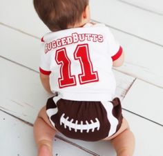 Football Bloomer © Like it? Follow us on Facebook! https://www.facebook.com/SpecialBabyShowerGifts