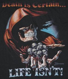 Awesome Grim Reaper graphic t-shirt. Shirt has never been worn.