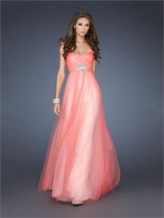 Gorgeous A-line Sweetheart Ruched Bodice Beaded Tulle Prom Dress PD11370 www.dresseshouse.co.uk $126.0000
