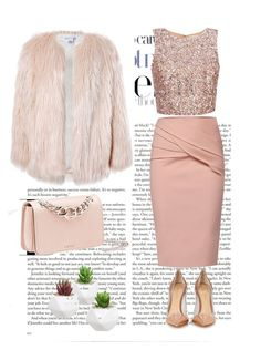 """""""Pretty in pink"""" by loustjohn ❤ liked on Polyvore featuring WtR, Sans Souci, Miu Miu and Gianvito Rossi"""
