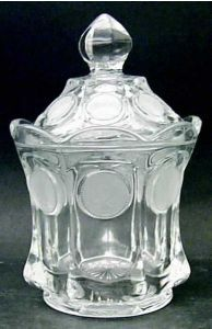 Fostoria Coin Glass-Clear Candy Dish with Lid $33.99