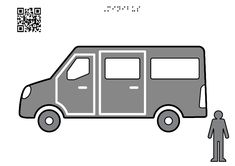 Minibus - Tactile Images Encyclopedia Group Travel, Family Travel, Visual Learning, Cargo Van, Side Window, Man Standing, Learning Disabilities, Public Service, Motor Car