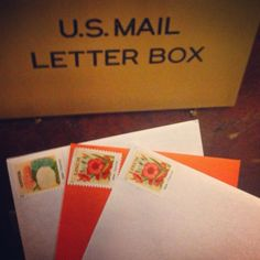 Sent out some more mail today – #orange just makes me smile every time! #mail #snailmail #snailmailrevolution #usps #uspsstamps #stamps