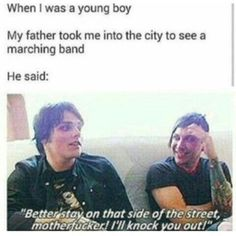 Read Žerard jokes from the story MCR and Frerard/MEMES and PICTURES by Igotsoemo_ifellapart (FunGhoul) with 403 reads. Emo Band Memes, Mcr Memes, Emo Bands, Music Bands, Emo Meme, Mcr Quotes, Band Quotes, Funny Memes, He's Mine