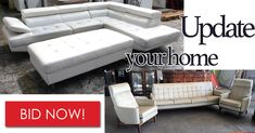 Make your bid on sleek, modern lounges and furniture to add to your home in the Super Saturday Online Auction at pm!