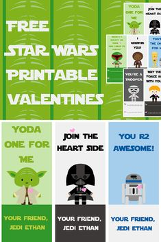 Print out these FREE Star Wars Printable Valentines!