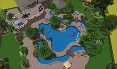 home lazy river pool - Google Search