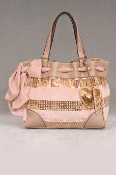 Juicy Couture Sequin Stripe Handbag In Pink.