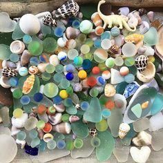 Hawaiian seaglass candy - 80 marbles - Photo from mermaidlovehi