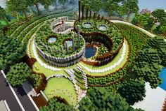 Yin and yang house modern project Minecraft Map Project Minecraft, Minecraft Garden, Minecraft Mansion, Minecraft Cottage, Easy Minecraft Houses, Minecraft Room, Minecraft Plans, Minecraft House Designs, Amazing Minecraft