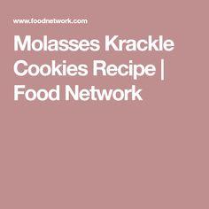 Molasses Krackle Cookies Recipe   Food Network Molasses Recipes, Cookie Jars, Food Network Recipes, Baking Soda, Cookie Recipes, Sweets, Cookies, Desserts, Frostings