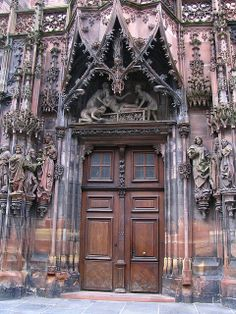 North portal, cathedral of Strasbourg, France