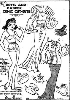 toots and casper paper dolls   Mostly Paper Dolls: Mabel Paper Doll, 1-27-35