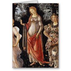 #Primavera, Detail of Venus, by Sandro #Botticelli Gift #Cards #greetingcard