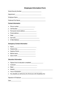 19 best Employee Forms images on Pinterest | Business ideas ...