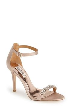 Badgley Mischka 'Elope' Crystal Embellished Sandal (Women) available at #Nordstrom