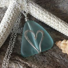 Updates from yinahawaii on Etsy Sea Glass Necklace, Sea Glass Jewelry, Clay Jewelry, Stone Wrapping, Wire Wrapping, Sea Glass Crafts, Ocean Crafts, Handmade Jewelry Designs, Handmade Jewellery