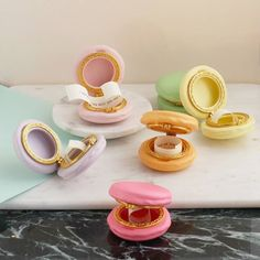 """""""Will you be my bridesmaid?"""" macaroon trinket boxes. Click on the image to see our full gallery of fun ways on how to ask someone to be your bridesmaids."""