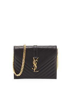 Saint Laurent Monogramme Envelope Chain Shoulder Bag