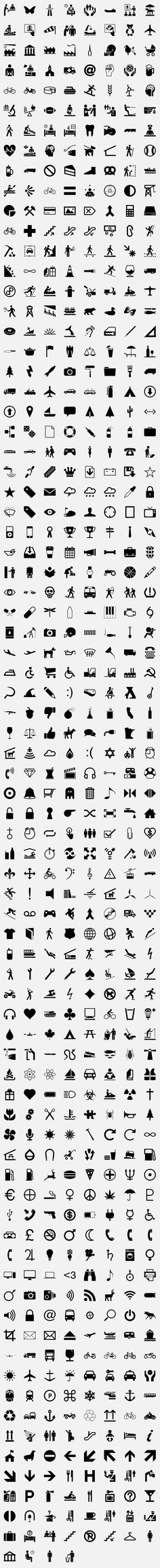 The Noun Project is a free,  online symbol library of the world's visual language that can be understood by all cultures and all people. http://thenounproject.com