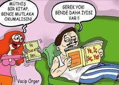 Okuma Kitabı Önerisi Karikatürü - Vacip Örger