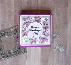 Layered Flower Stamp and Die Set from Stamps by Chloe. Created by Crystal Schneider fro Chloes Creative Cards, Stamps By Chloe, Crafters Companion Cards, Sue Wilson, Flower Stamp, Adult Crafts, Flower Tutorial, Die Cutting, Handmade Cards
