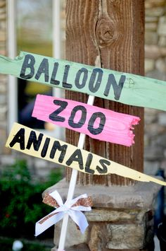 Zoo party with face painting, petting zoo animals, balloon animals? so cute
