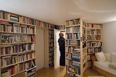 Library ideas.  This is a photo I saved from the Internet in past years. I do not have the attribution for this picture. If you know the photographer or magazine, please let me know. I DO want to give proper attribution.