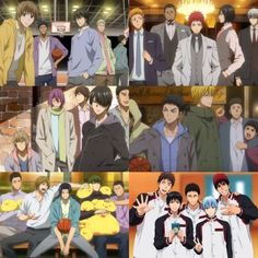 KnS hanging out with their teams    KnB