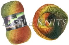 Little Knits Viking Nordlys - Here in Cactus Flower - LittleKnits has 13 colors. Fingering weight, 385 yds; 75 Superwash wool / 25 nylon, 7 st/in on US 2 / 2.5mm  needles. Lots of examples on Projects on Ravelry