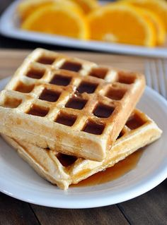 Classic Buttermilk Waffles: made these w/ 3/4 cup whole wheat flour...kinda overpowered the taste, maybe next all reg flour
