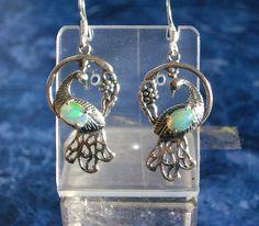 Natural FIRE OPAL Gemstone, 925 Solid Sterling Silver, Dangle Earrings Jewellery by AmeogemJewellery on Etsy