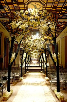 An art nouveau wedding theme with perfect lighting, Jordan, when I get married you and Ash need to make this real