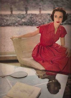 1950s checked dress