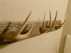 We have collected many antlers over the decades and are finding creative ways to use them in our décor.  We found this antler coat or hat rack online and will use it as inspiration to create one from our own antler collection.