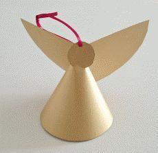 Bricolage de Noël : fabriquer des anges à accrocher au sapin