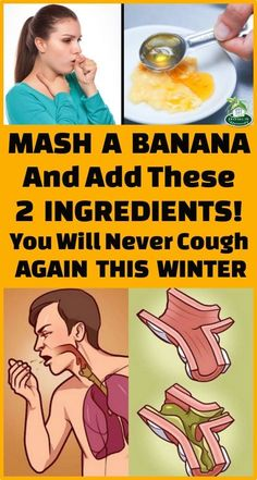 Cough Remedies Mash A Banana And Add These 2 Ingredients! You Will Never Cough Again This Winter - Coughs are reaction of the body when it is trying to clean up the central highway of the respiratory system. Coughing is sign that there is something wrong. Cough Remedies For Kids, Home Remedy For Cough, Natural Cough Remedies, Cold Remedies, Natural Health Remedies, Natural Cures, Herbal Remedies, Honey Cough Remedy, Bronchitis Remedies