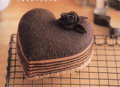 Del libro japonés Gakken Mook Erikarika: un pastel de chocolate en forma de corazón