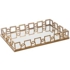 We adore this mirrored tray to place perfumes or jewelry on!