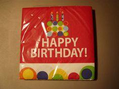 Cute Happy Birthday Celebration Party Napkins | eBay - $4.99