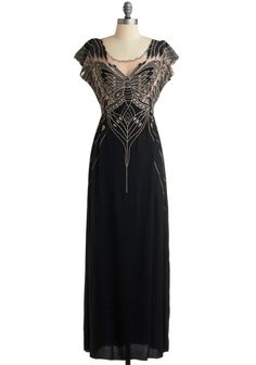 dresses long | ... more bohemian feel this Flutter Me By dress from ModCloth is perfect