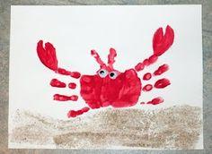 hand print crab - cute!