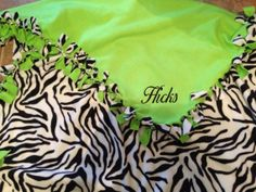 026131595a Items similar to Zebra lime green tie blanket on Etsy