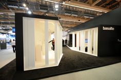 Great looking exterior, so-so interior, but a nice booth no less. Love the simplicity. Light Building 2014 Frankfurt Basalte 02 Light + Building 2014 Frankfurt – Basalte