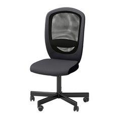 IKEA - FLINTAN, Bureaustoel, Vissle grijs, , Je kan met een perfecte balans achteroverleunen omdat het schommelmechanisme de weerstand automatisch aanpast aan je gewicht en de beweging.Doordat de stoel in hoogte verstelbaar is, zit je comfortabel.Je rug krijgt steun en wordt extra ontlast door de ingebouwde lendensteun.De veiligheidswielen hebben een belastingsgevoelig vergrendelmechanisme waardoor de stoel veilig op zijn plaats blijft staan als je opstaat, en dat automatisch wordt…